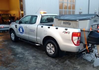 Ford Ranger Auraus- ja hiekoituskalustolla
